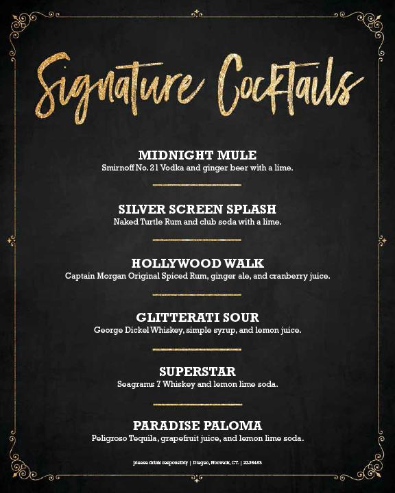 NYE Main Event Signature Cocktails